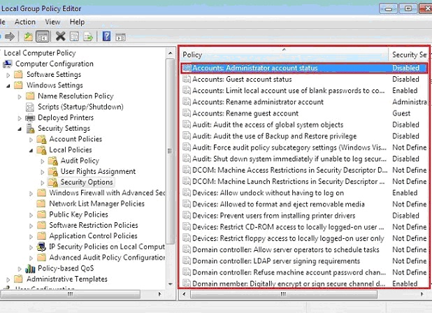 how to turn on the administrator account windows 7