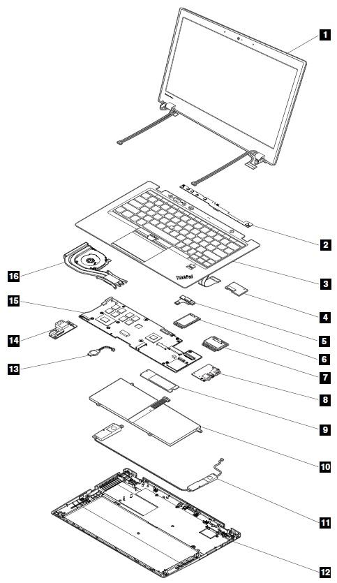 system service parts - thinkpad x1 carbon  type 34xx