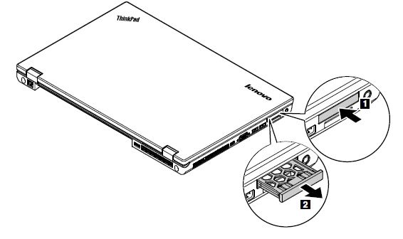 Removal steps of the ExpressCard reader or dummy