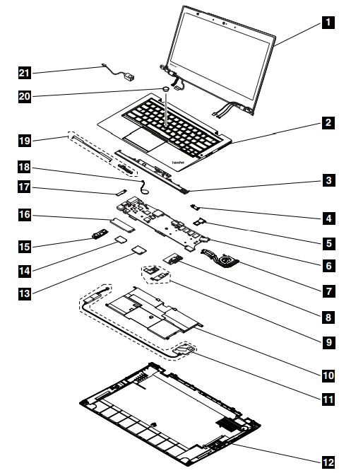 System Service Parts  ThinkPad X1 Carbon  Type 20A7  20A8