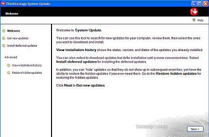 ThinkVantage System Update
