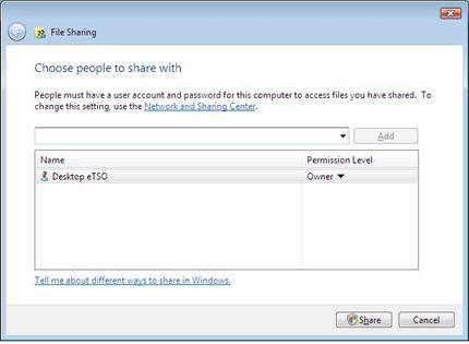 File sharing in Windows Vista