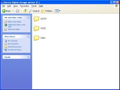 Digital media storage device window