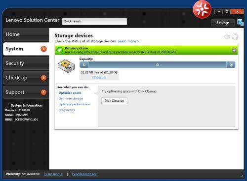 message center plus lenovo  software