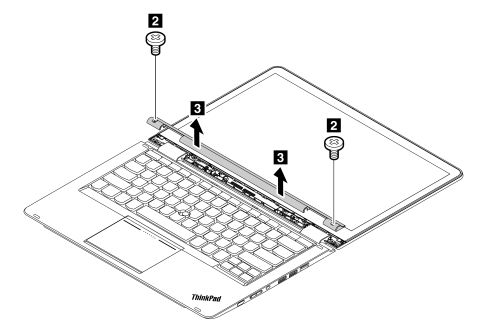 Removal steps of the LCD bezel assembly - ThinkPad Yoga 14 - US