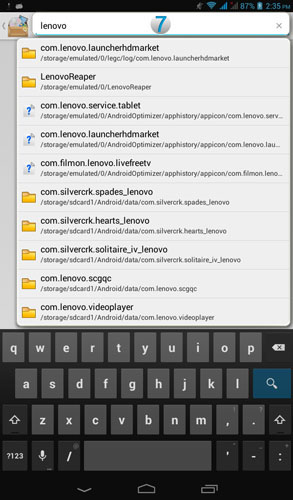 How to use File Manager - Lenovo A1000 Tablet - US