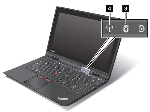 Status indicators - ThinkPad X1, X1 Hybrid - US
