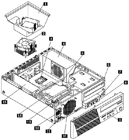 System service parts and Recovery DVD part numbers