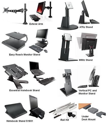 Notebook And Desktop Stands Arms Mounts Rail Kits