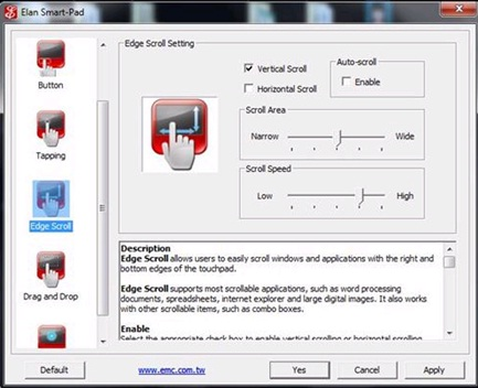 alps touchpad driver scrolling
