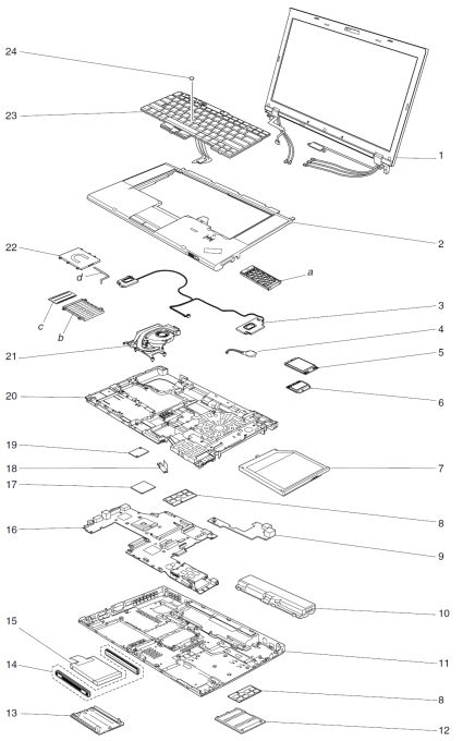 system service parts - thinkpad t520  t520i  w520