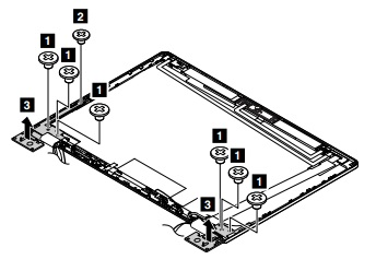 Hinge assembly removal - ThinkPad Yoga 14 (Type 20FY), Yoga